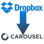 met dropbox en carousel maak je weer ruimte op je mobiele telefoon logo's