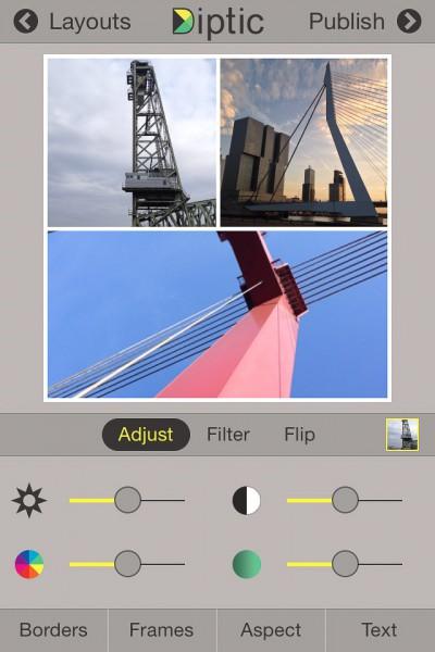Diptic - aanpassen foto - IOS