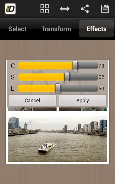 Diptic - aanpassen foto - Android