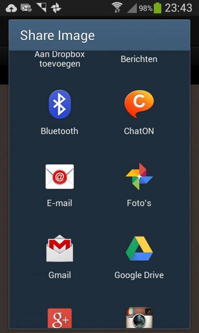 Diptic - delen van de collage - share image Android