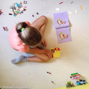 Kinderfotografie met mobiele telefoon - alternatief van bovenaf fotograferen