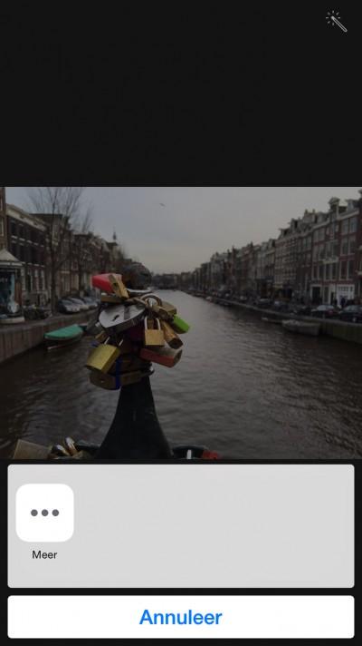 Stap 3 - Het 'meer' incoontje in de Foto's app.