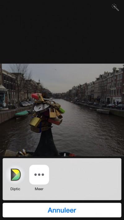 Het Diptic app icoontje is toegevoegd als bewerking.