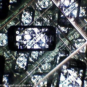 Spiegeldoos met camera aan de voorkant