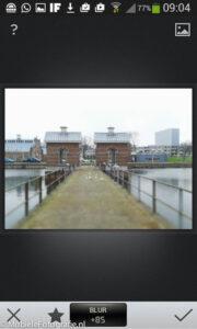 Aanpassen van de scherpte d.m.v. blur in Snapseed.
