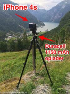 time-lapse opstelling met mobiele telefoon op mobielefotografie.nl