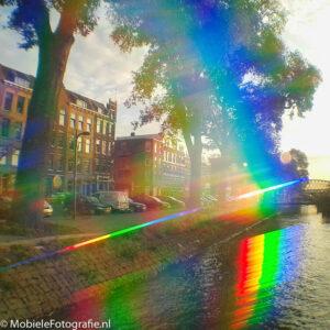 Rotterdam bij zonsopgang - door de Trippy Clip lens [Samsung Galaxy Trend]