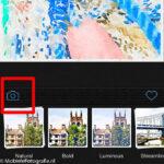 Openen van je foto in de Waterlogue app via het fototoestel symbool.