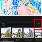 Opslaan van je creatie in de Waterlogue app gaat via het hartje.