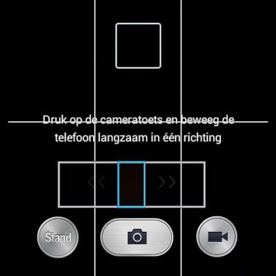 Panoramafunctie van de standaard Android camera-app.