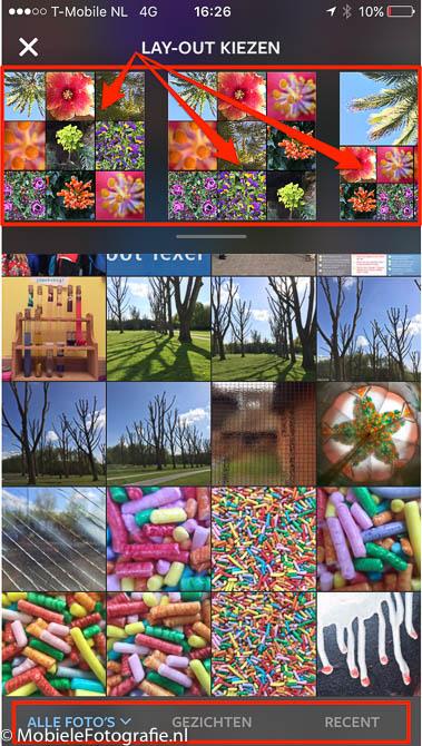 layout snelle collage maken op je mobiel. Black Bedroom Furniture Sets. Home Design Ideas