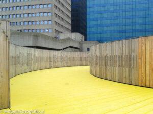 Foto gemaakt met een goedkope mobiele telefoon: de luchtsingel in Rotterdam. [Samsung Galaxy Trend]