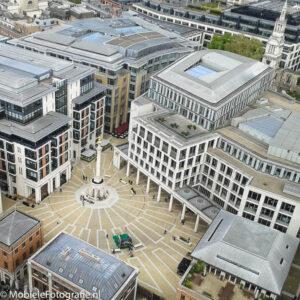 Foto gemaakt met een goedkope mobiele telefoon: Londen vanaf de Saint Paul's Cathedral. [Samsung Galaxy Trend]