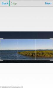Bij de Android versie van de Planetical app moet je eerst het deel van de foto kiezen waar het planeetje van gemaakt wordt.