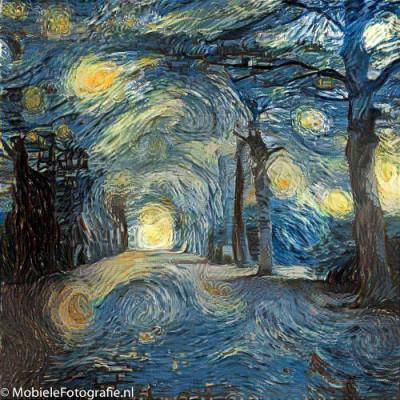 Landgoed Elswout als Van Gogh schilderij in de Pikazo app.