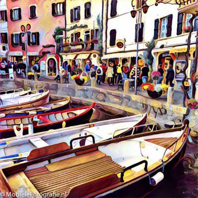 Een Italiaans haventje - in de Prisma app.