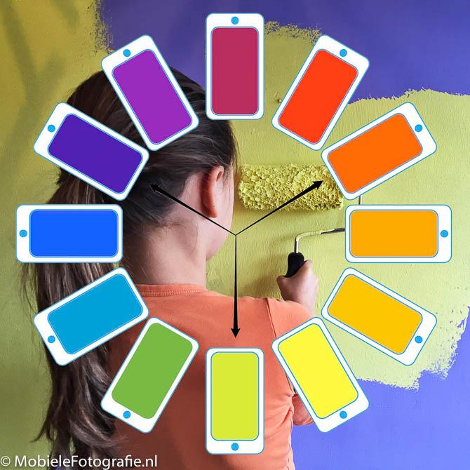 Kleuren in je mobiele fotografie – de kleurentheorie