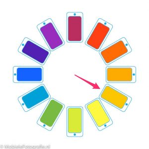 Het kleurenwiel is ook goed te gebruiken in de mobiele fotografie.
