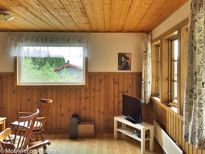 Ios houten huisje hdr mobielefotografie mobielefotografie