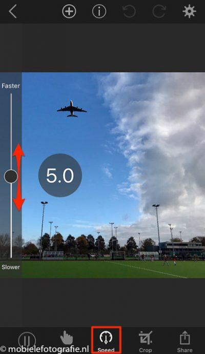 De snelheid van de animatie is instelbaar (met Speed in de Plotagraph app).