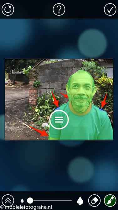 De analyse van de FabFocus app is niet helemaal correct. (mobielefotografie.nl)