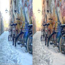 Blauwe sneeuwfoto's wit maken – met de witbalans in Snapseed
